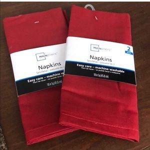 (2) 2 pack Mainstays cloth napkins